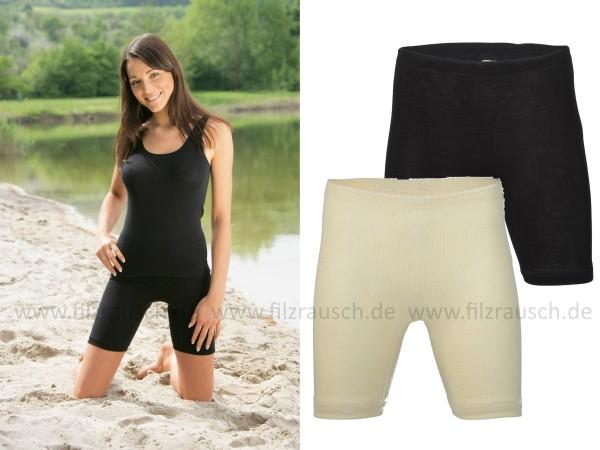 Damen-Schlüpfer mit Bein, 70% Schurwolle/30%Seide (Bio-GOTS)