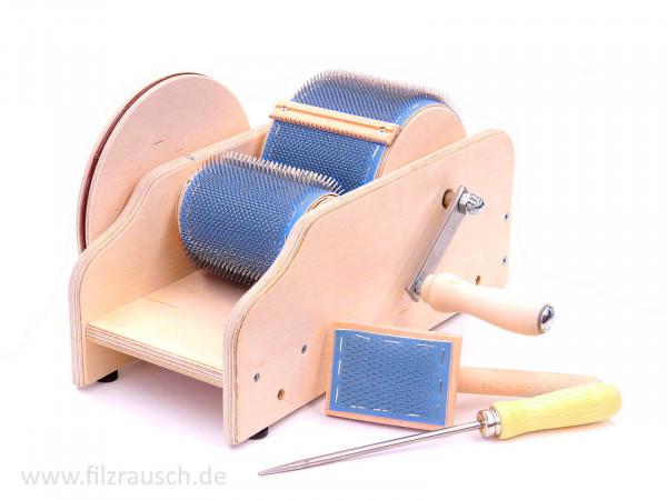 """Kardiermaschine Schwabenland """"Mini"""" 72ppi - 10 cm Walze"""