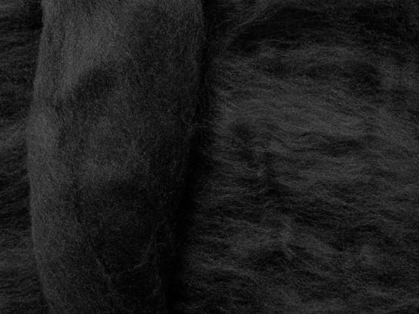 Merinowolle - schwarzer schwan superfein 16 mic im Band