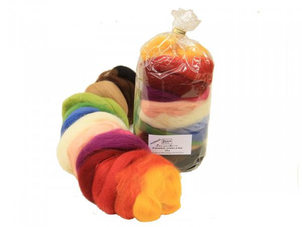 Zwergenwolle bunte Mischung - gemischt mittelfein 100 g
