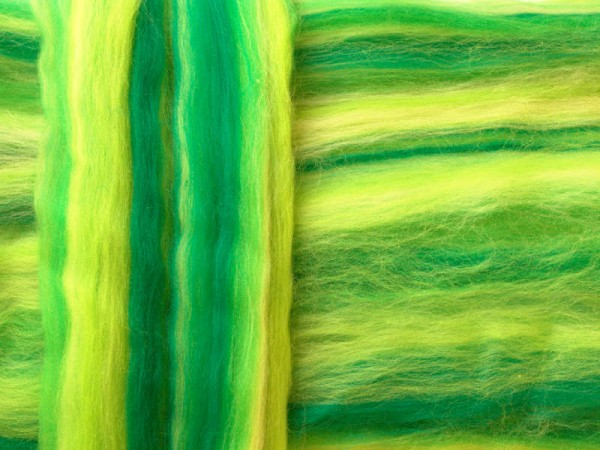 Merino-Melange - grüne energie superfein 16 mic im Band