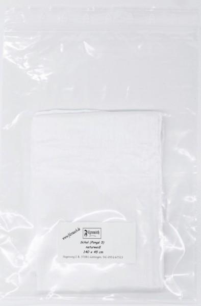 Schal Pongé 5 - naturweiß 140x45 cm