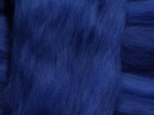 Merinowolle - marineblau superfein 16 mic im Band