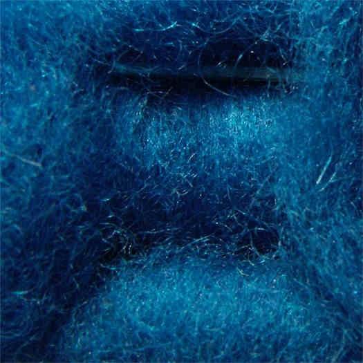 Merinowolle (bunt) - blau extra fein im Vlies