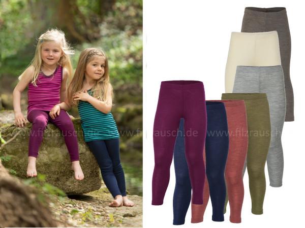 Kinder-Leggings, 70% Schurwolle/30%Seide (Bio-GOTS)