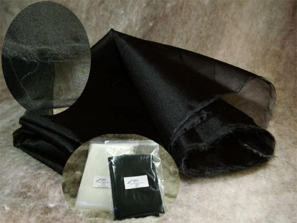 Organza 5,5 - schwarz 105 cm breit pro 1 Meter