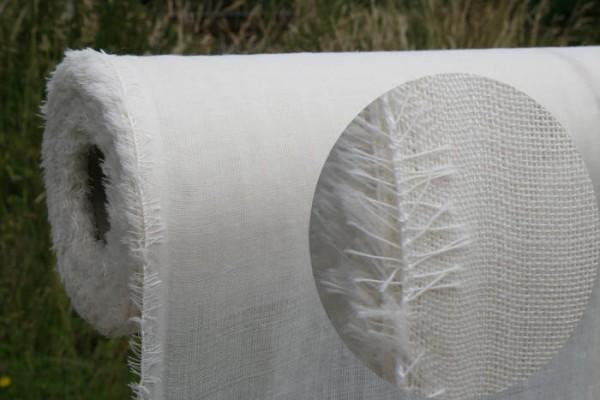 180g/m Wollmousseline / Etamine de Laine - spargelweiß 150 cm breit pro 1