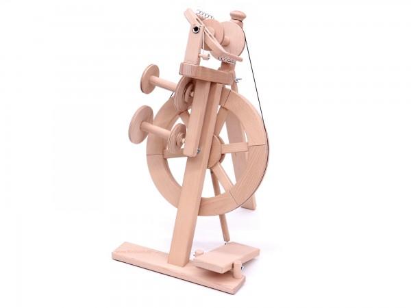 Spinnrad Merino Einfachtritt incl. Zwirnsatz, unlackiert