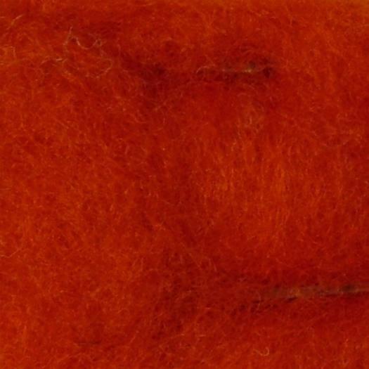 Merinowolle (bunt) - rotorange extra fein im Vlies
