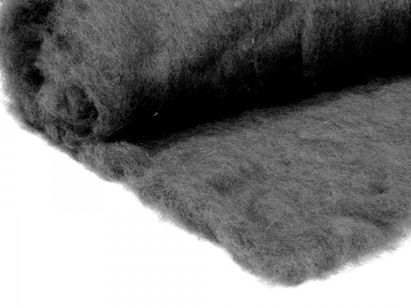 Bergschafwolle (bunt) - graphitgrau mittelfein im Vlies