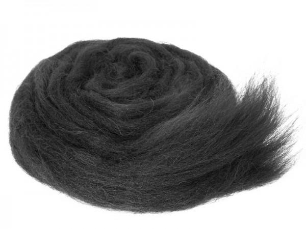 Bergschafwolle (bunt) - schwarzes schaf mittelfein im Band