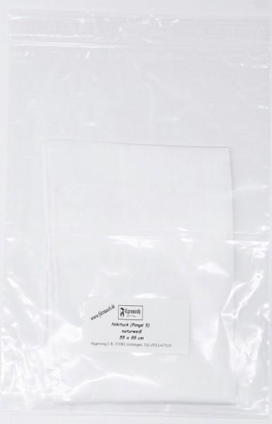 Nickituch Pongé 5 - naturweiß 55x55 cm