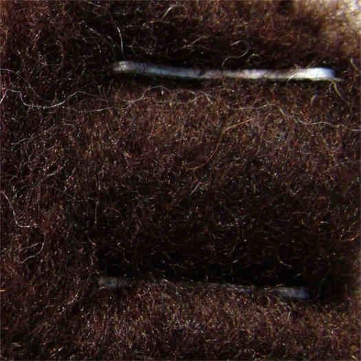 Merinowolle (bunt) - kastanienbraun extra fein im Vlies