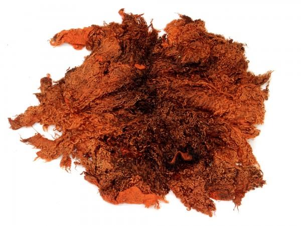 Sonderposten Toupetlocken - orange mittelfein 1kg - gefärbt
