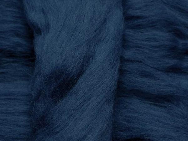 Merinowolle - atlantikblau superfein 16 mic im Band