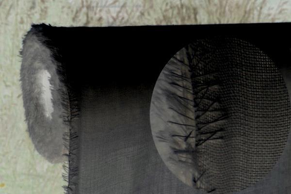 110g/m Wollmousseline / Etamine de Laine - onyxschwarz 148 cm breit pro 1 Meter