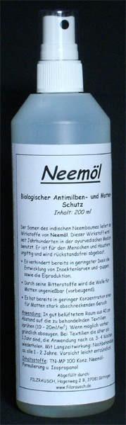 Neemöl, (Mottenschutz) - 200 ml 1 Zerstäuber