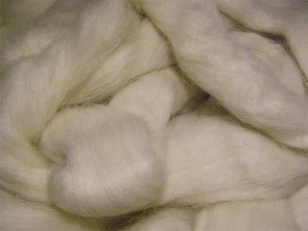 Alpacawolle - naturweiß sehr fein im Band