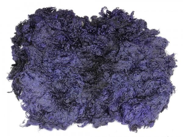 Sonderposten Toupetlocken - dunkelblau mittelfein 1kg - gefärbt
