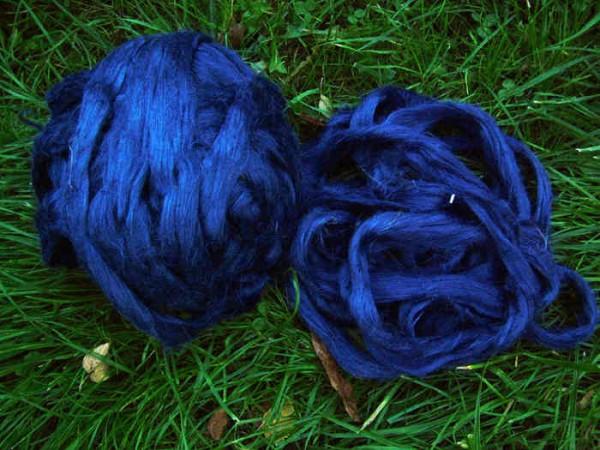 Leinen (bunt) - jeansblau im Band