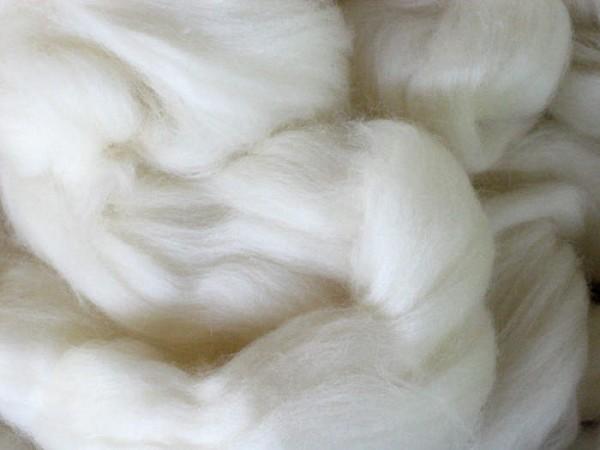 18,5 mic Südamerik. Merinowolle - polarweiß extra fein im Band