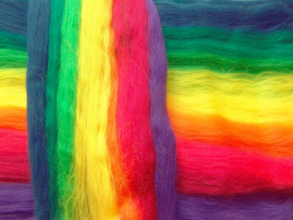Merino-Melange - regenbogen superfein 16 mic im Band