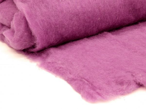 Bergschafwolle (bunt) - küchenschellenviolett mittelfein im Vlies