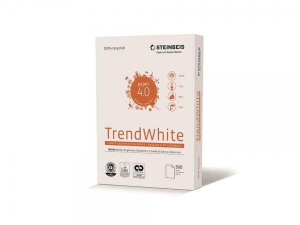 Steinbeis Recycling Kopierpapier TrendWhite ISO 80 A4 80g 500 Blatt