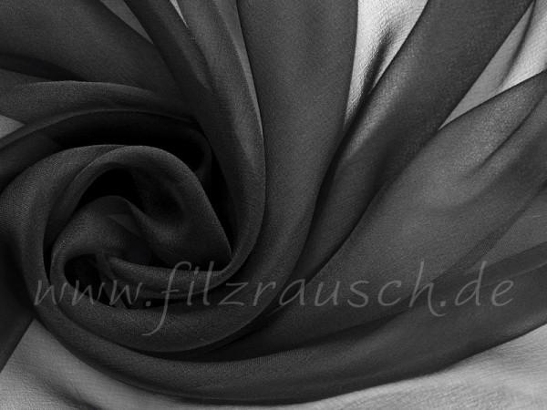 Chiffon 3,5 - schwarz 110 cm breit pro 1 Meter