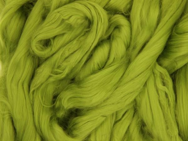 Baumwolle, froschgrün sehr fein im Band