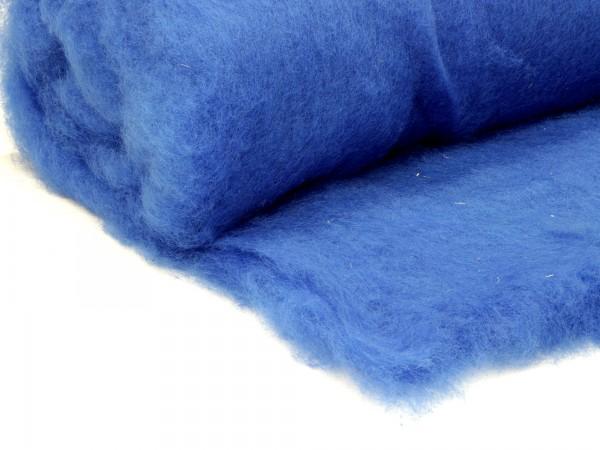 Bergschafwolle (bunt) - kraftblau mittelfein im Vlies