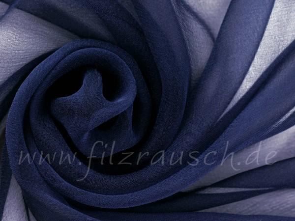 Chiffon 3,5 - marineblau 110 cm breit pro 1 Meter
