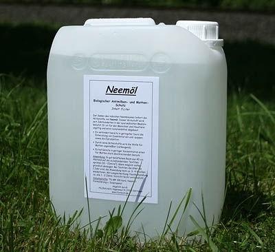 Neemöl, (Mottenschutz) - Kanister 5 Liter