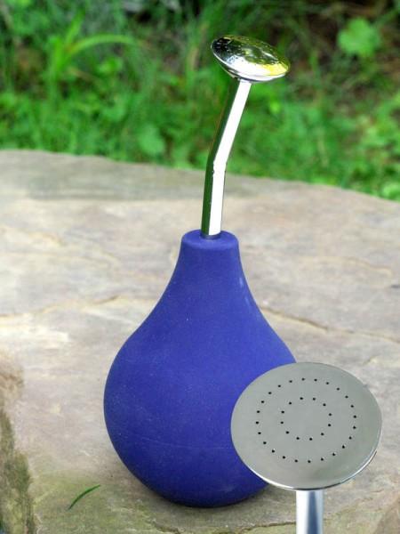 Filzbrause (Ballbrause) - blau 1 Stück