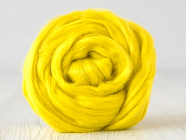lieferbar ab ca. Ende Mai in ca. 20 Farben - Baumwolle, hellgelb sehr fein im Band