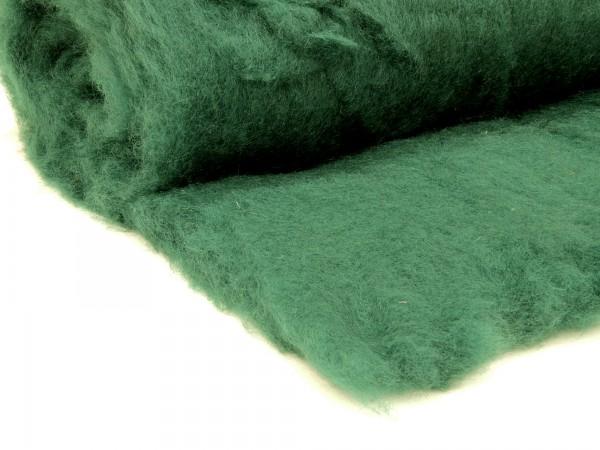 Bergschafwolle (bunt) - nadelgrün mittelfein im Vlies