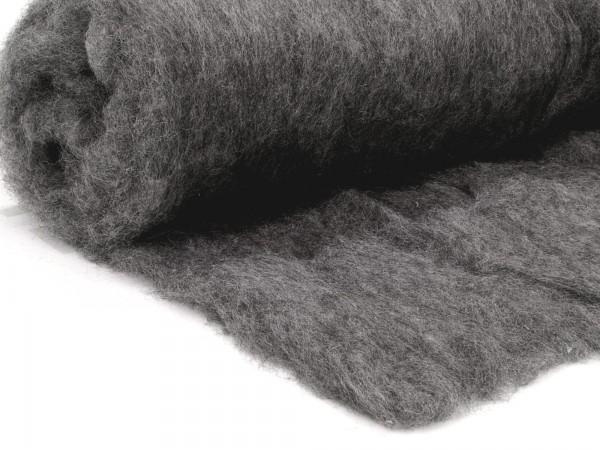 Bergschafwolle (bunt) - grau 55 mittelfein im Vlies