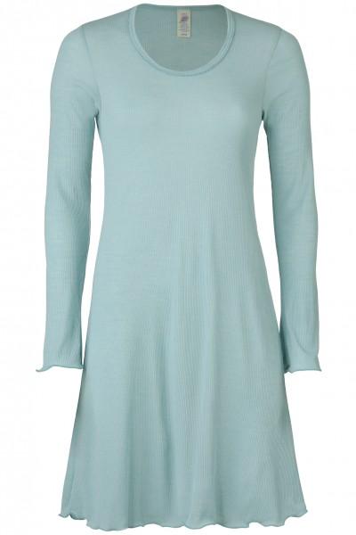 Nachthemd, mit langem Arm, Nadelzug, mit Rollsaum, 70% Wolle (kbT)/30% Seide
