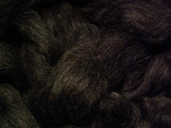 Alpacawolle - naturschwarz sehr fein im Band
