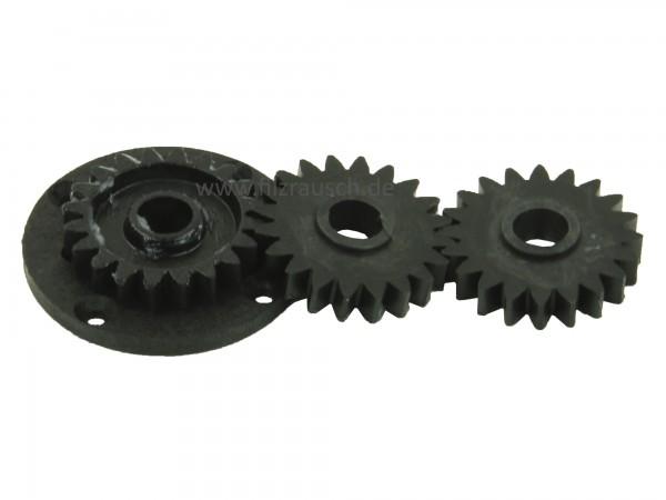 Louet Satz von drei kleinen Zahnrädern für Louet Kardiermaschine - Handkurbel/elektrisch (KR0113)