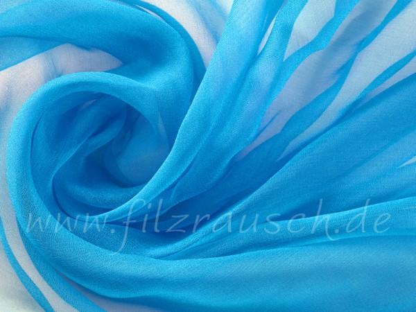 Chiffon 3,5 - pazifikblau 110 cm breit pro 1 Meter