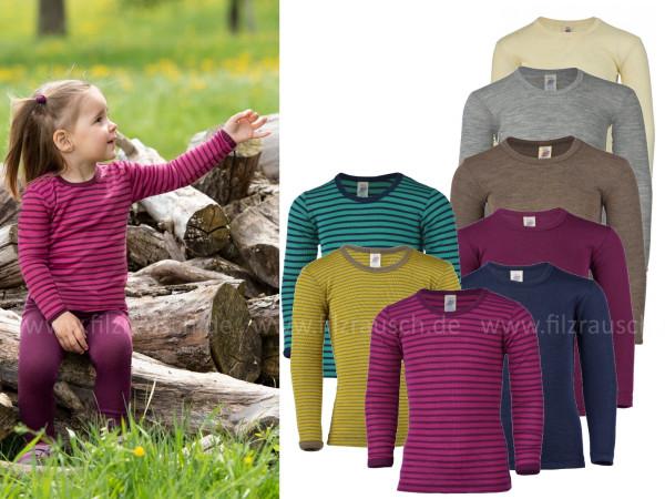 Kinder-Shirt langarm, 70% Schurwolle/30%Seide (Bio-GOTS)