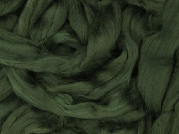Baumwolle, tiefgrün sehr fein im Band