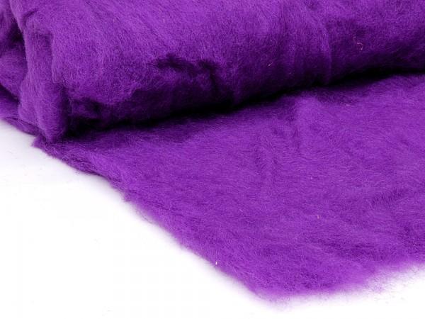 Bergschafwolle (bunt) - veilchenviolett mittelfein im Vlies