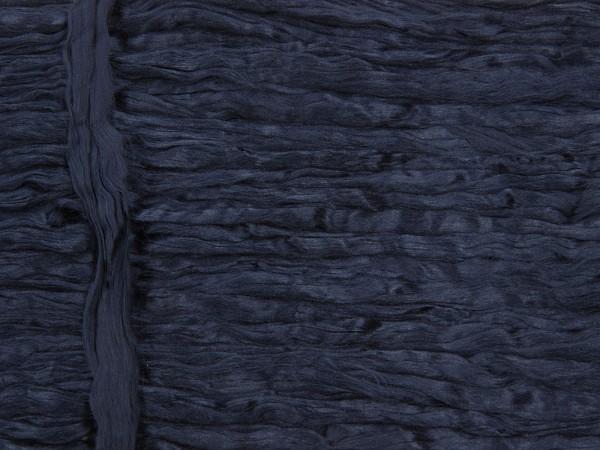 buntgefärbte Maulbeerseide - sternenblau extra fein im Band
