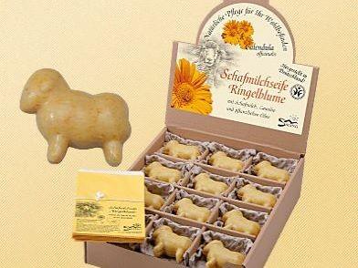 Saling Schafmilchseife Schaf mit Ringelblume, 85g